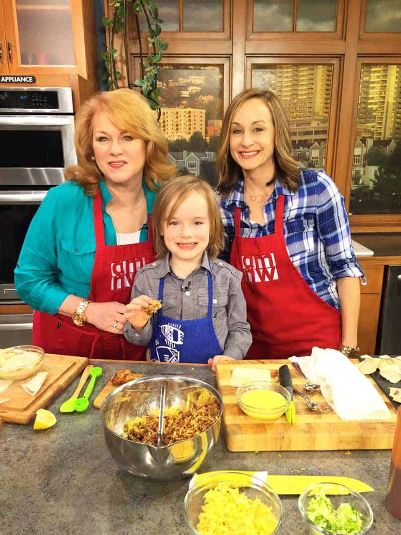 Cooking with Kids, cooking segment on AM Northwest