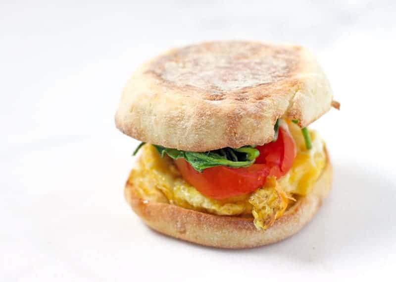 Egg Muffin Sandwich cooked on a Miniature Cast Iron Skillet