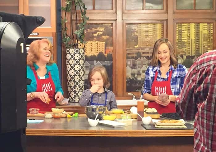 Having fun cooking with Helen Raptis on AM Northwest