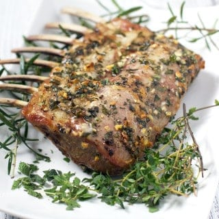 Roasted Herb-Crusted Rack of Lamb — New article and recipe on Wine4.Me