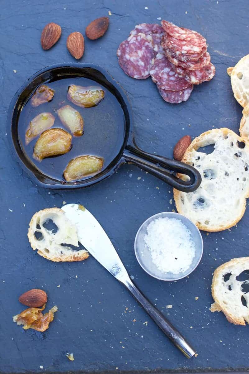 Roasted Garlic in Mini Cast Iron Pan