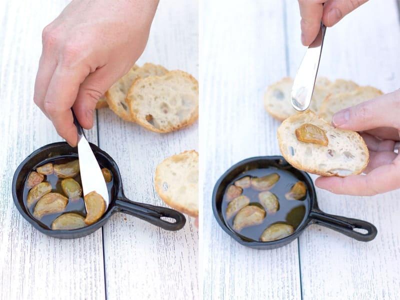 Roasting Garlic in a Cast Iron Skillet