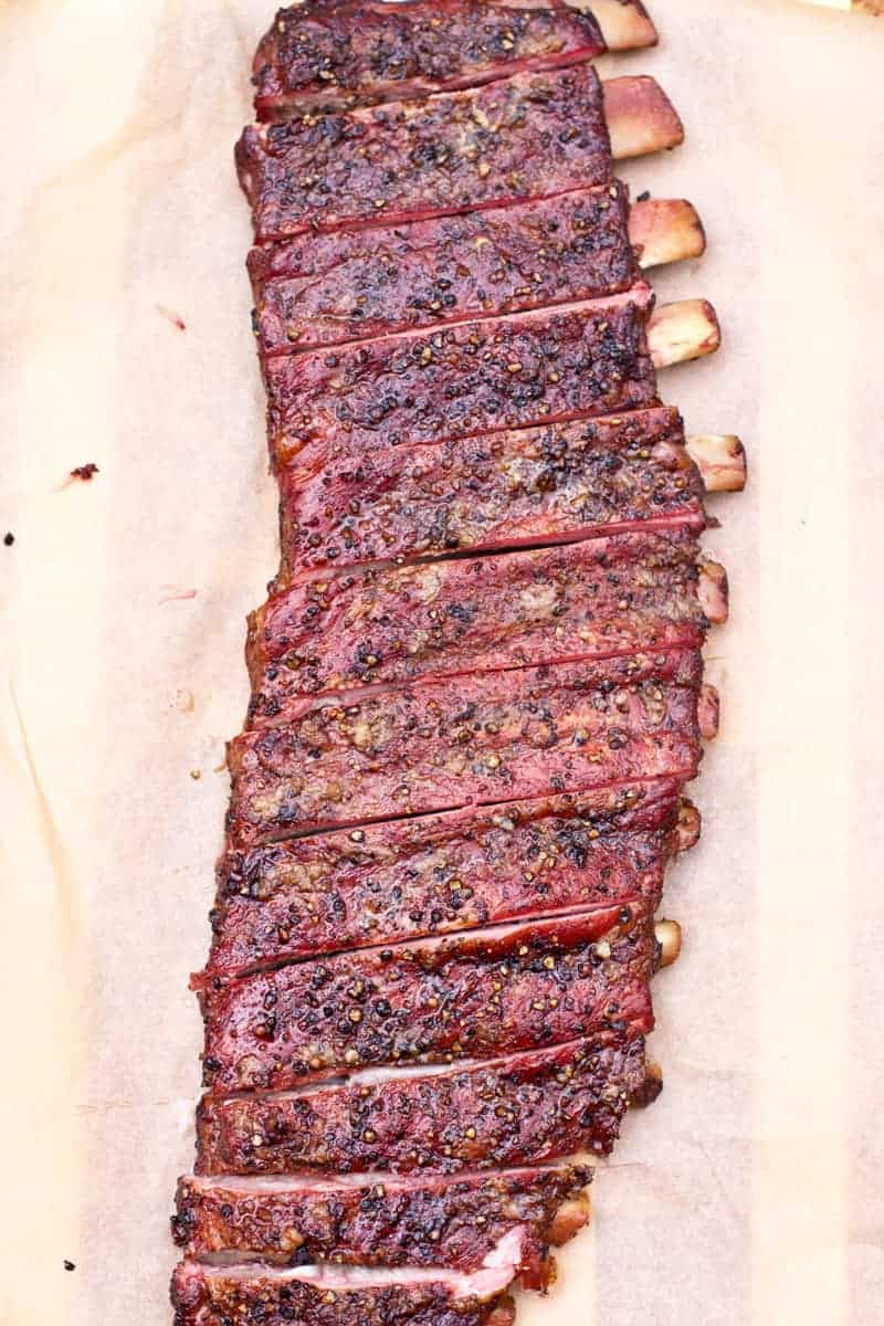 Smoked Salt and Pepper Ribs, as a 4th of July recipe for a crowd