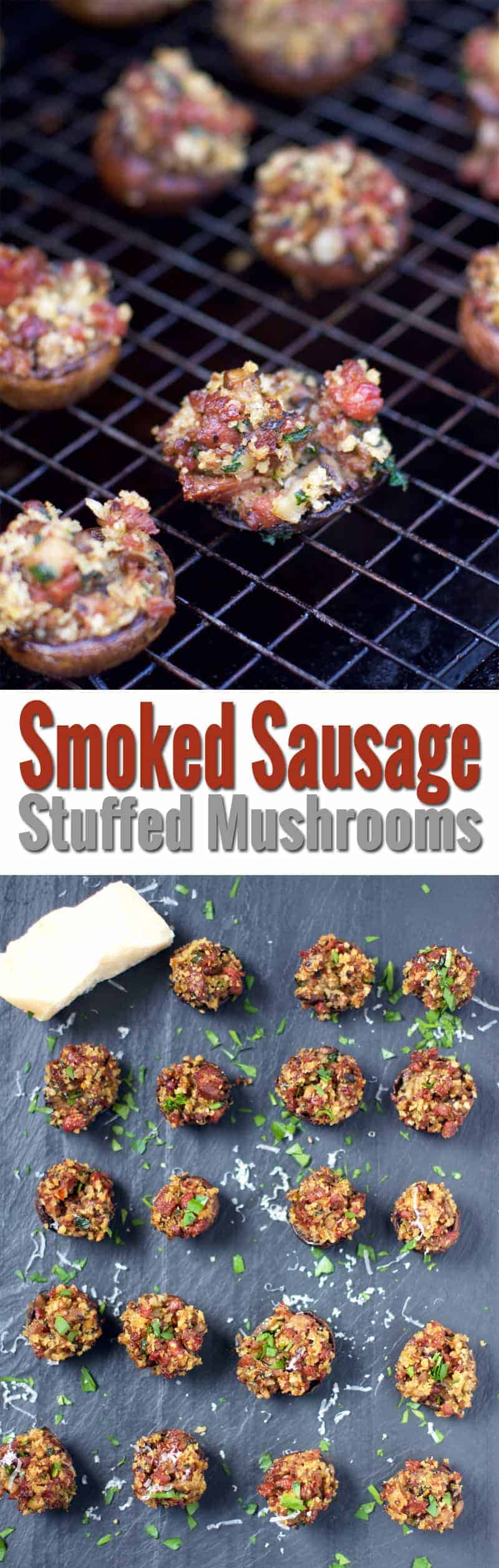 Smoked Sausage Stuffed Mushrooms Vindulge