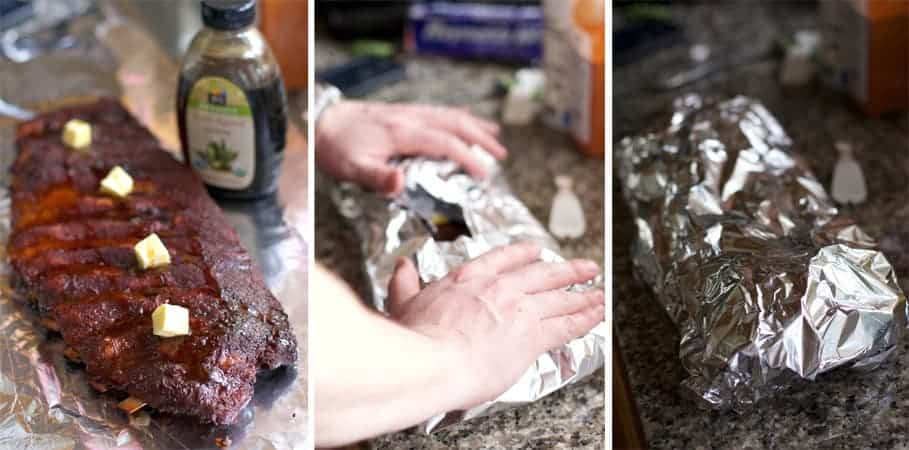 Wrapping Ribs for the 3-2-1 Method