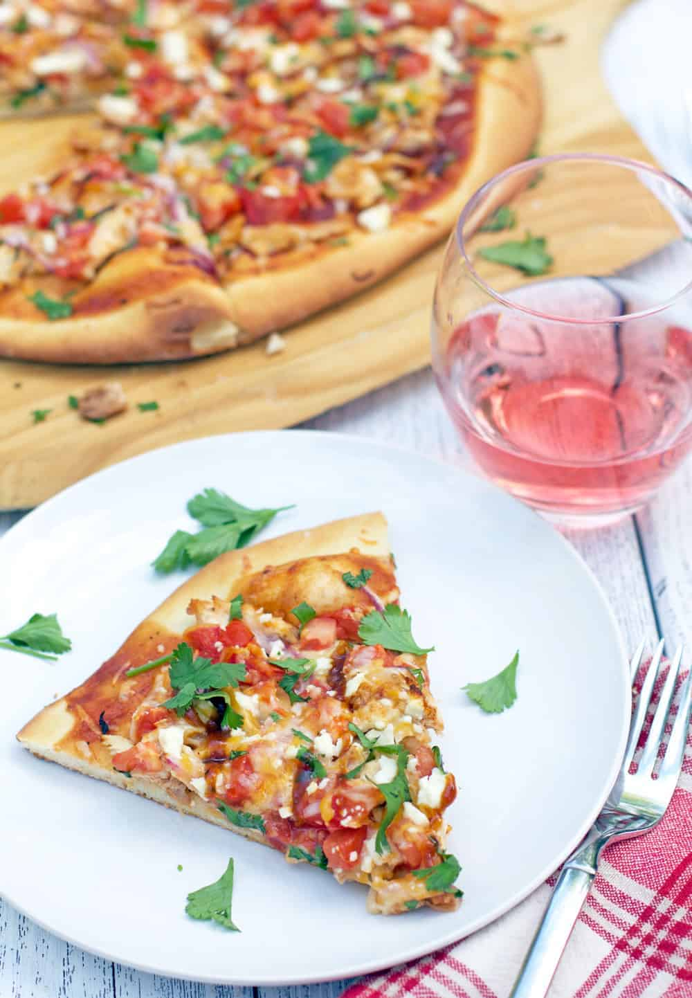 BBQ Chicken Pizza and Wine Pairing