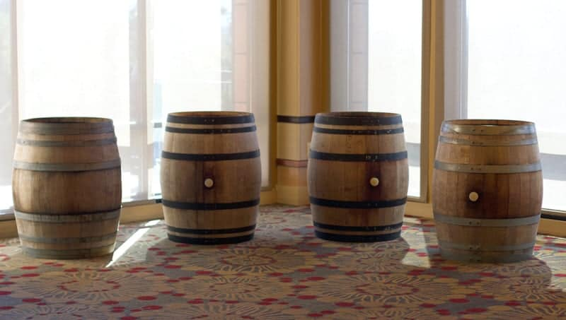 Barrels at the Willamette Valley Wine Auction