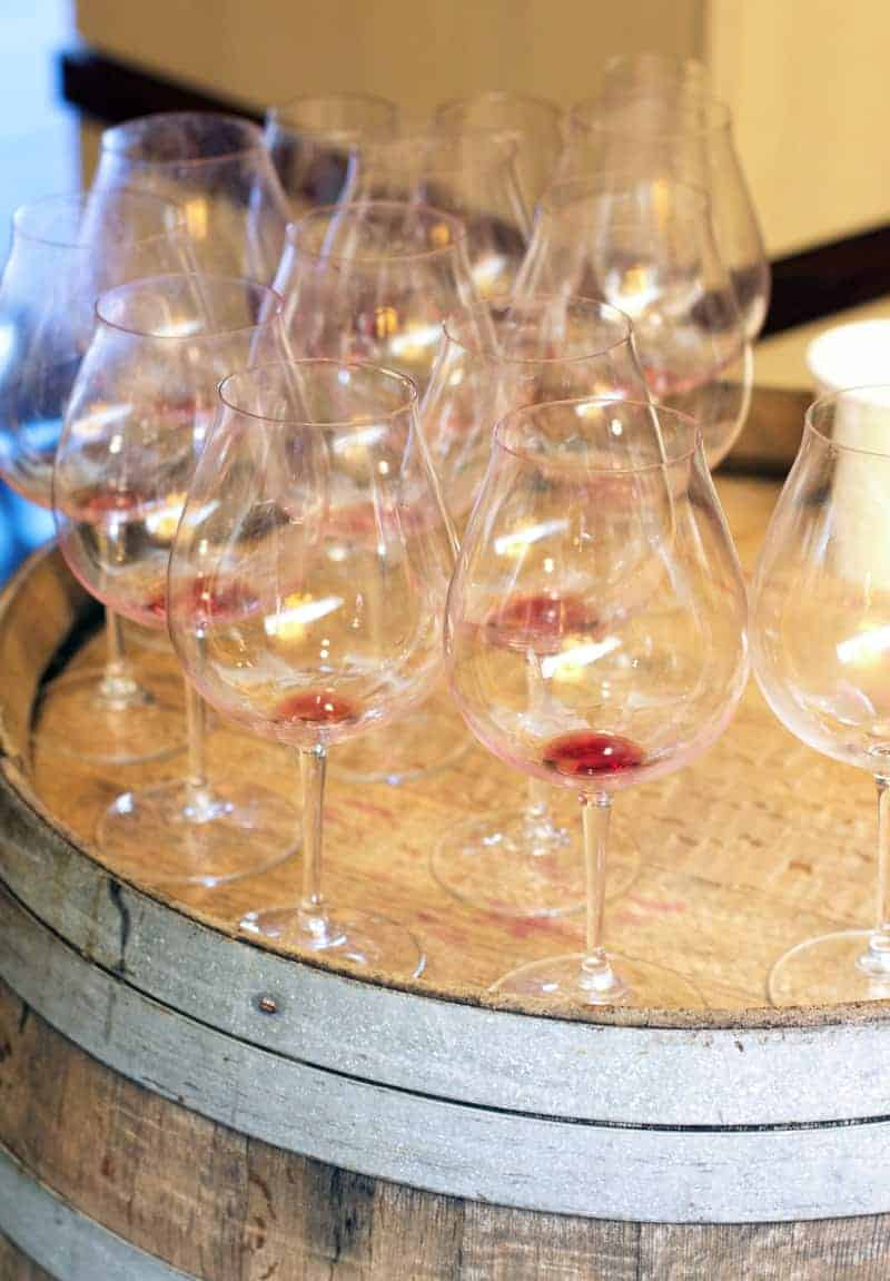 Empty Glasses at the Willamette Valley Wine Auction