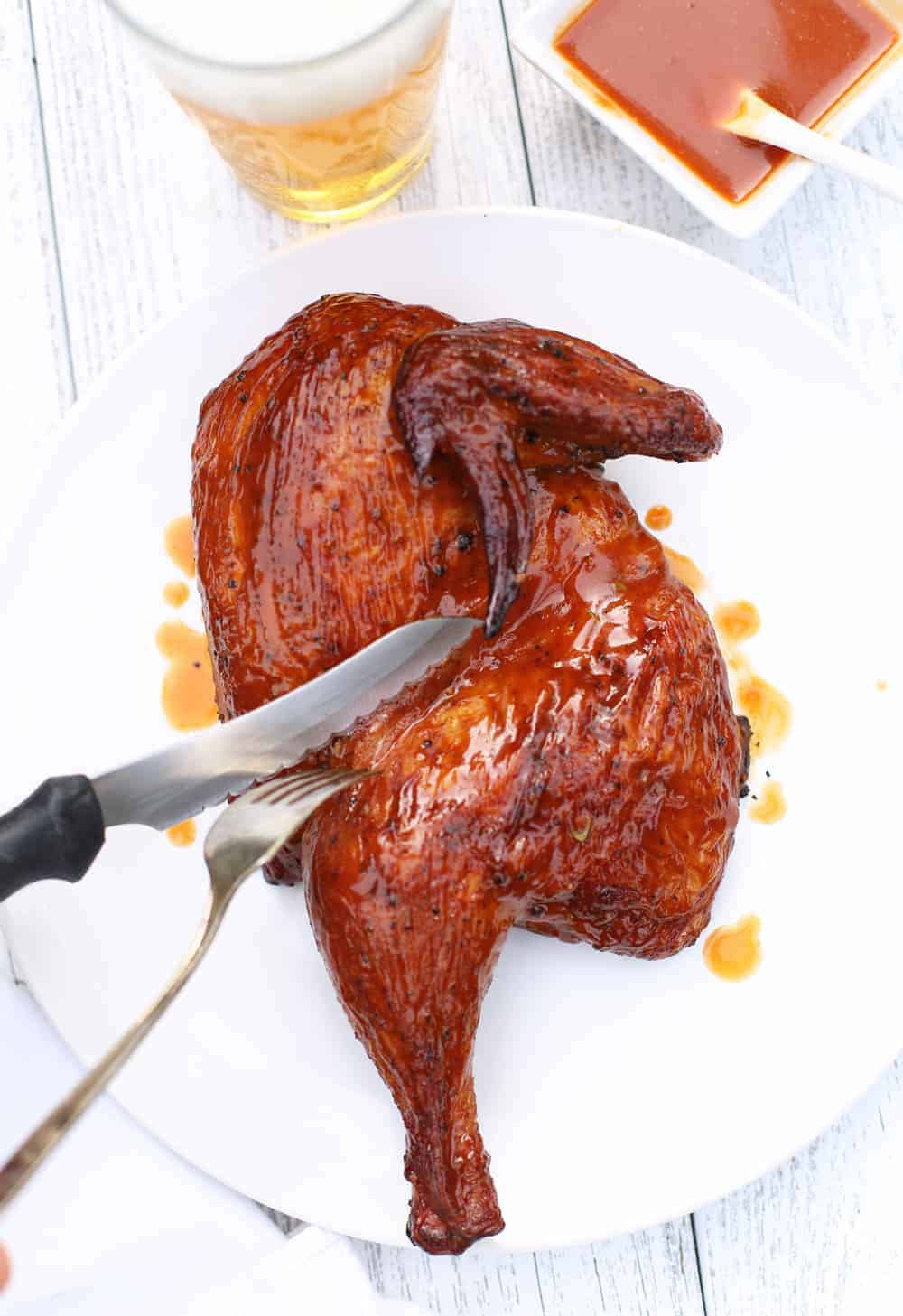 Dry Brined Carolina Style BBQ Chicken 2