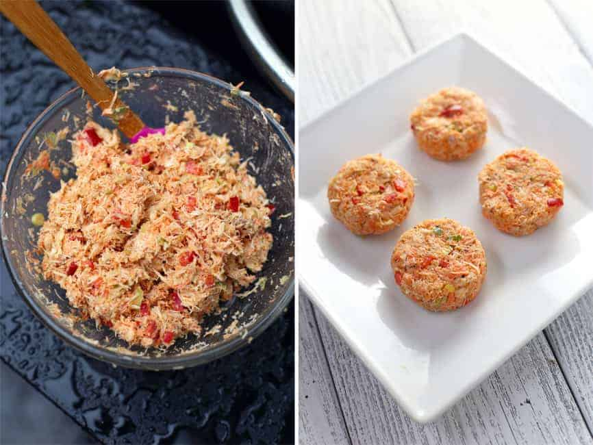 How to make crab and smoked salmon cakes