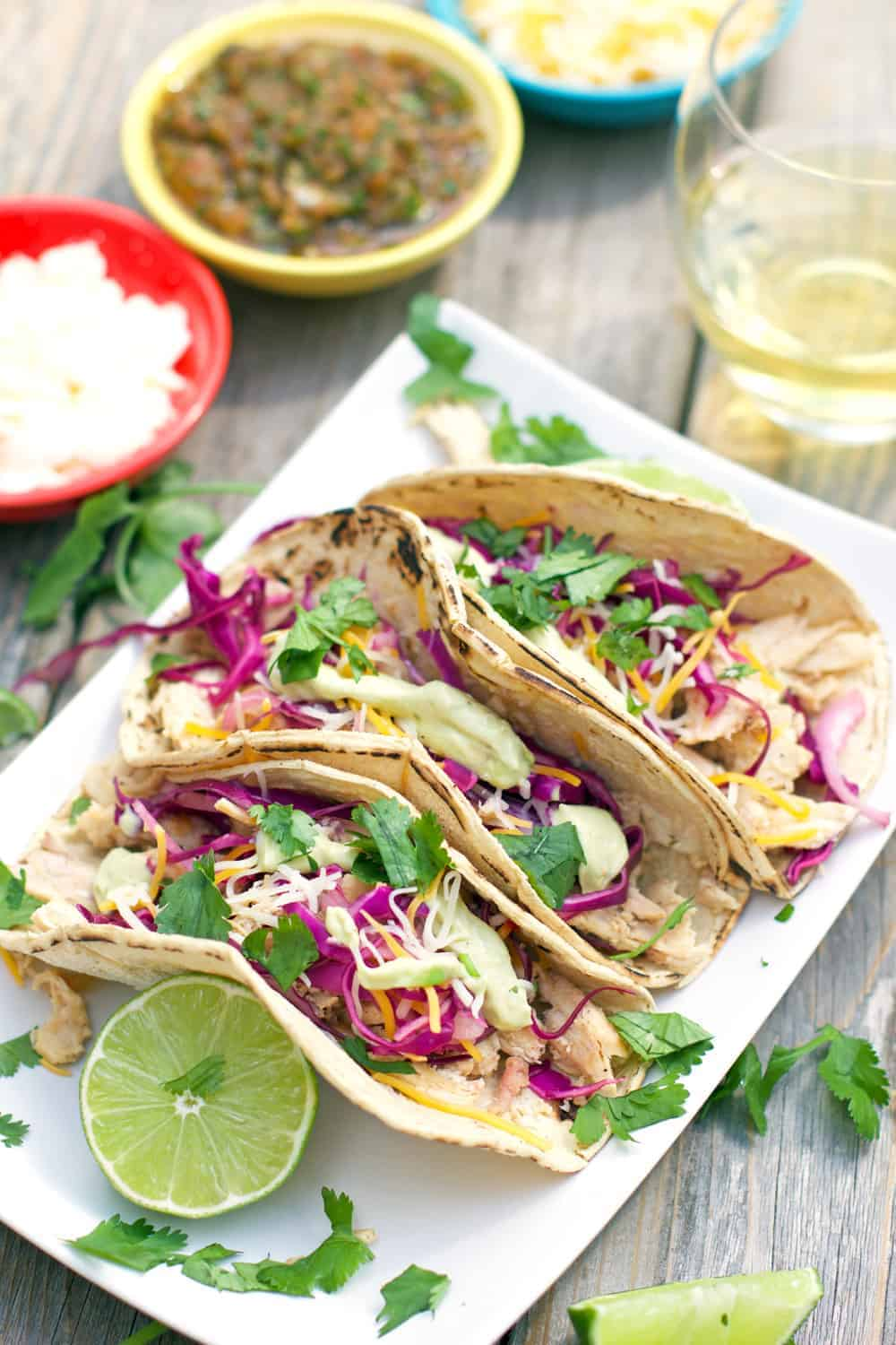 chicken tacos the best chicken taco ever smoked chicken thigh tacos ...
