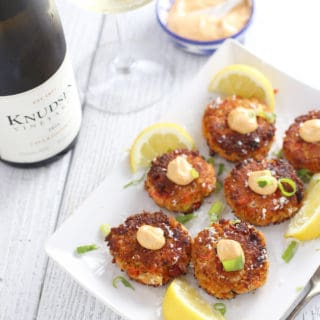 Smoked Salmon and Dungeness Crab Cakes with Oregon Chardonnay