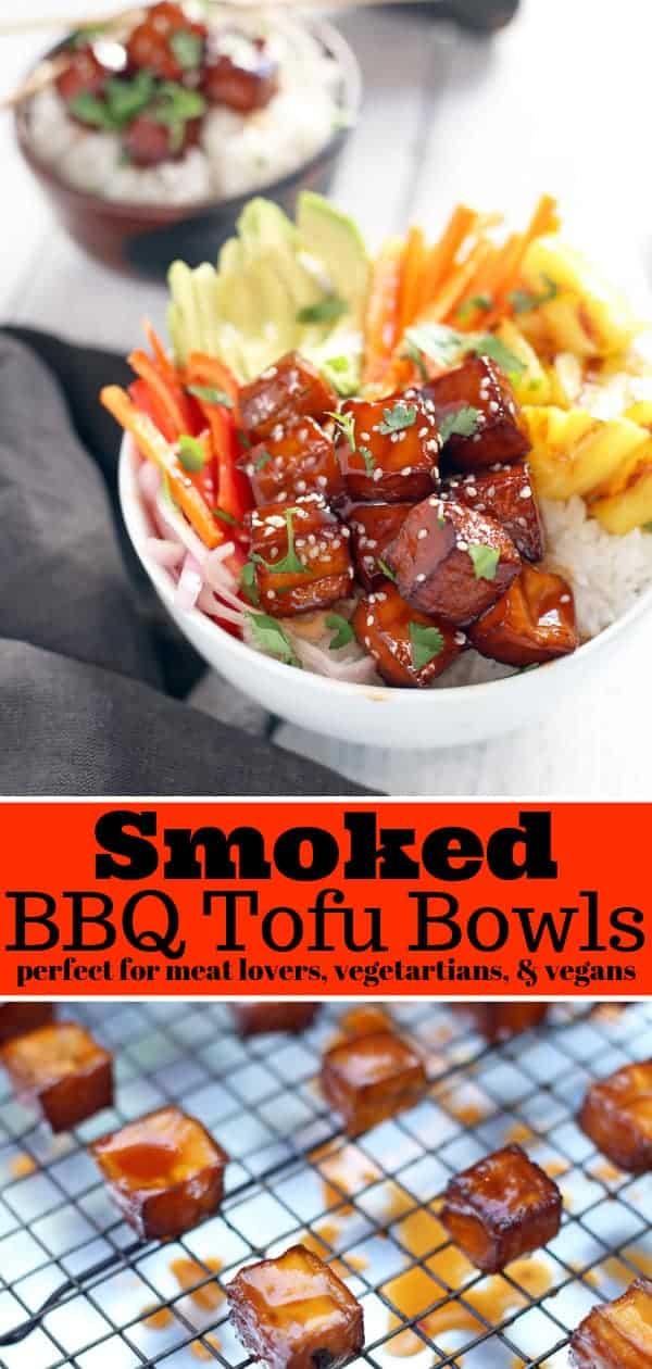 Smoked BBQ Tofu Bowl Pinterest Image