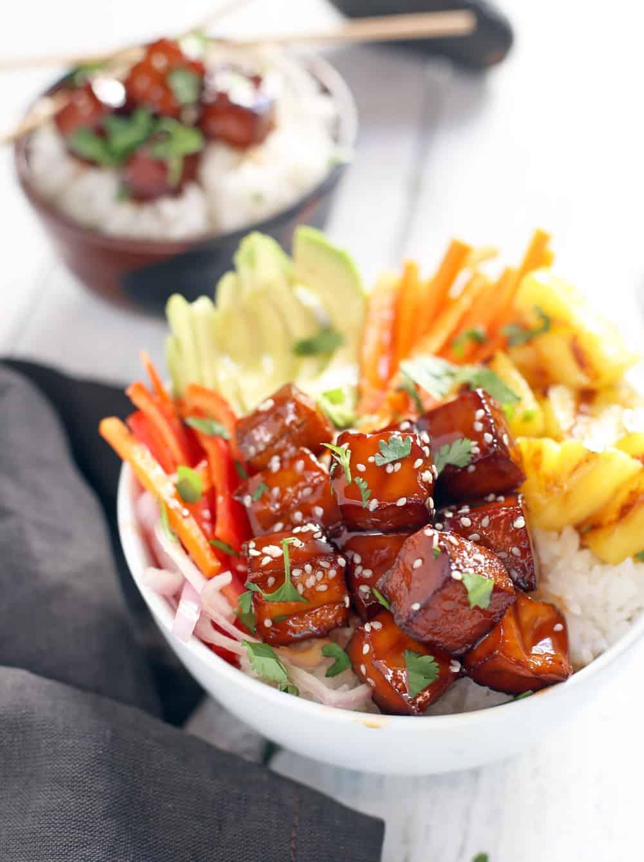 Smoked Bbq Tofu Bowls Vegan Vindulge