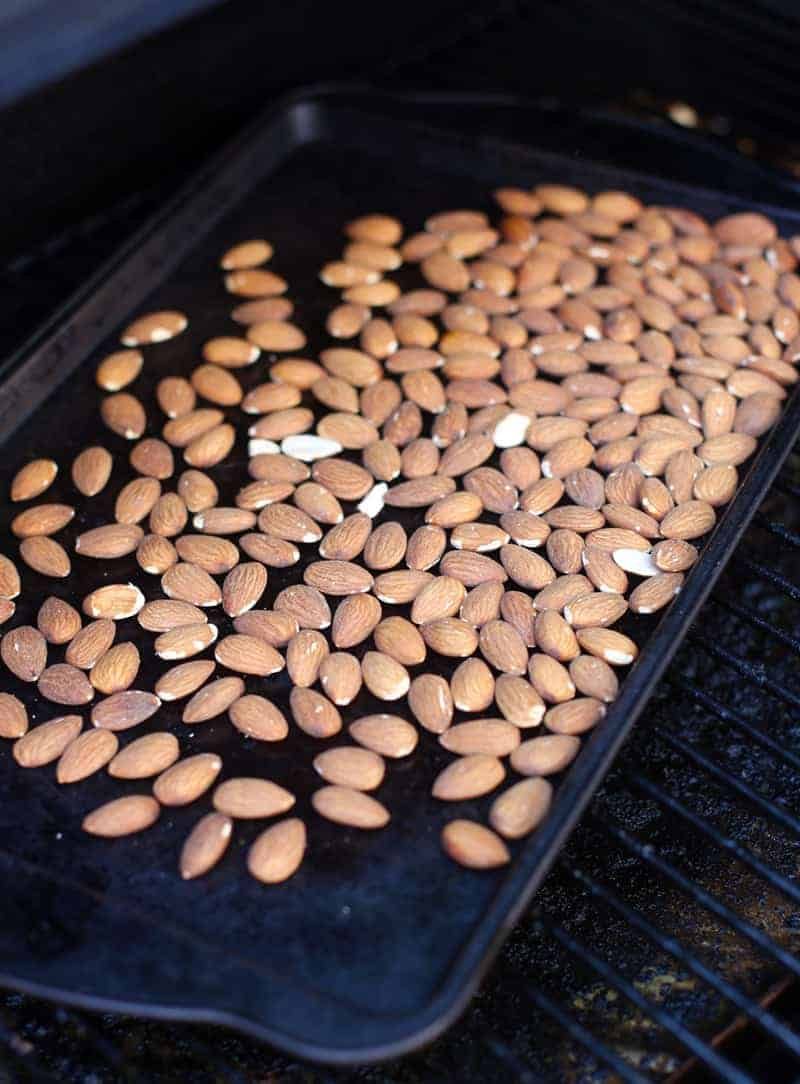 Roasting Almonds on the Smoker