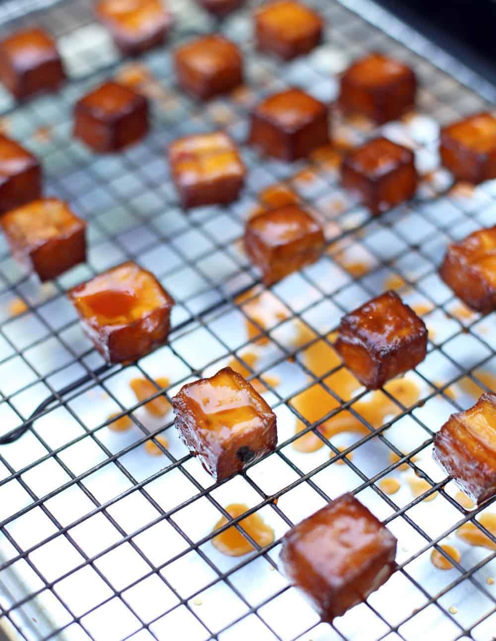 Smoking tofu on the outdoor grill or smoker
