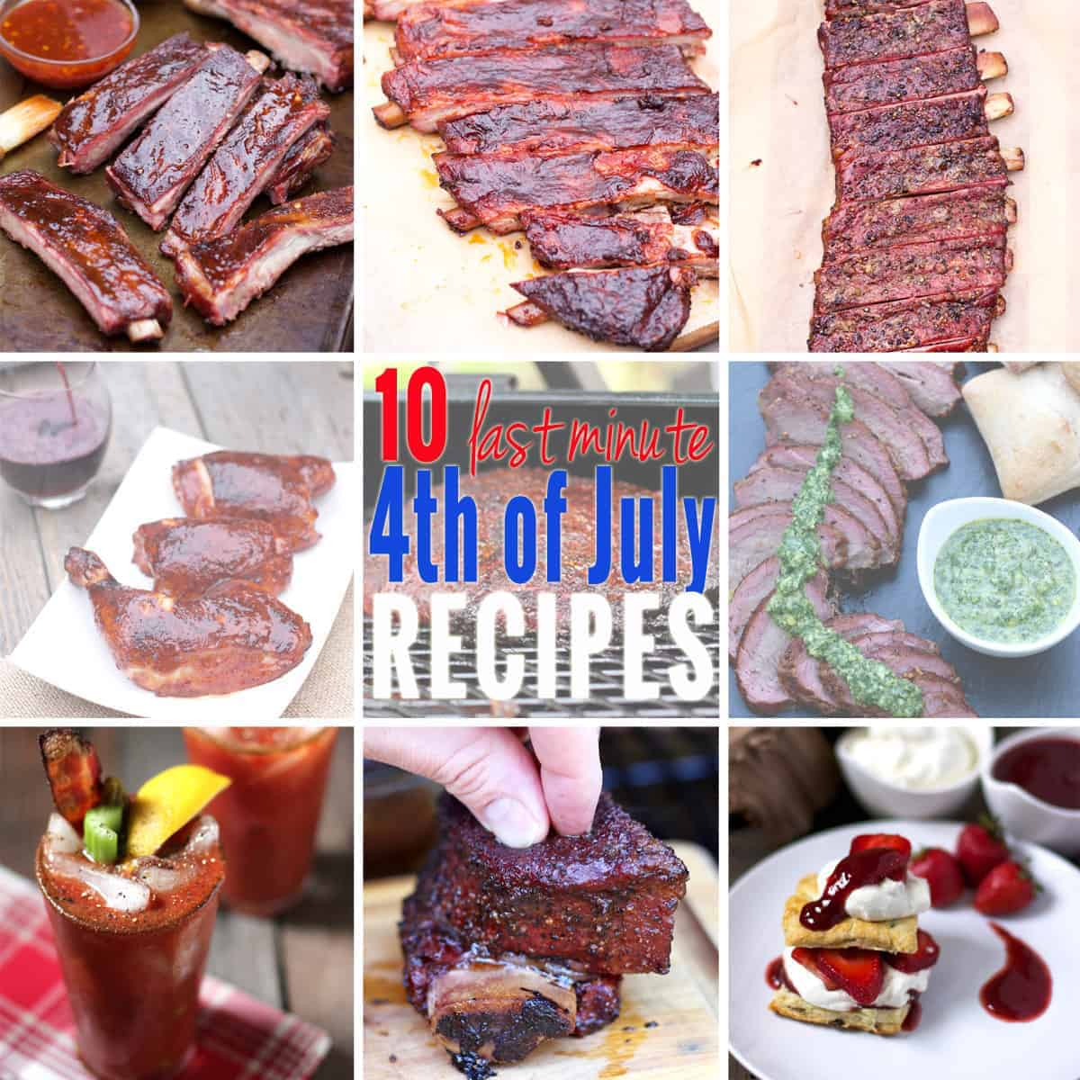 10 Last Minute 4th of July Recipes for your Grill or Smoker