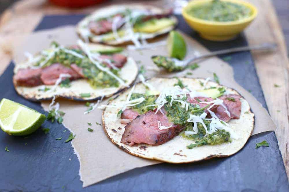 Reverse Sear Ribeye Steak Tacos