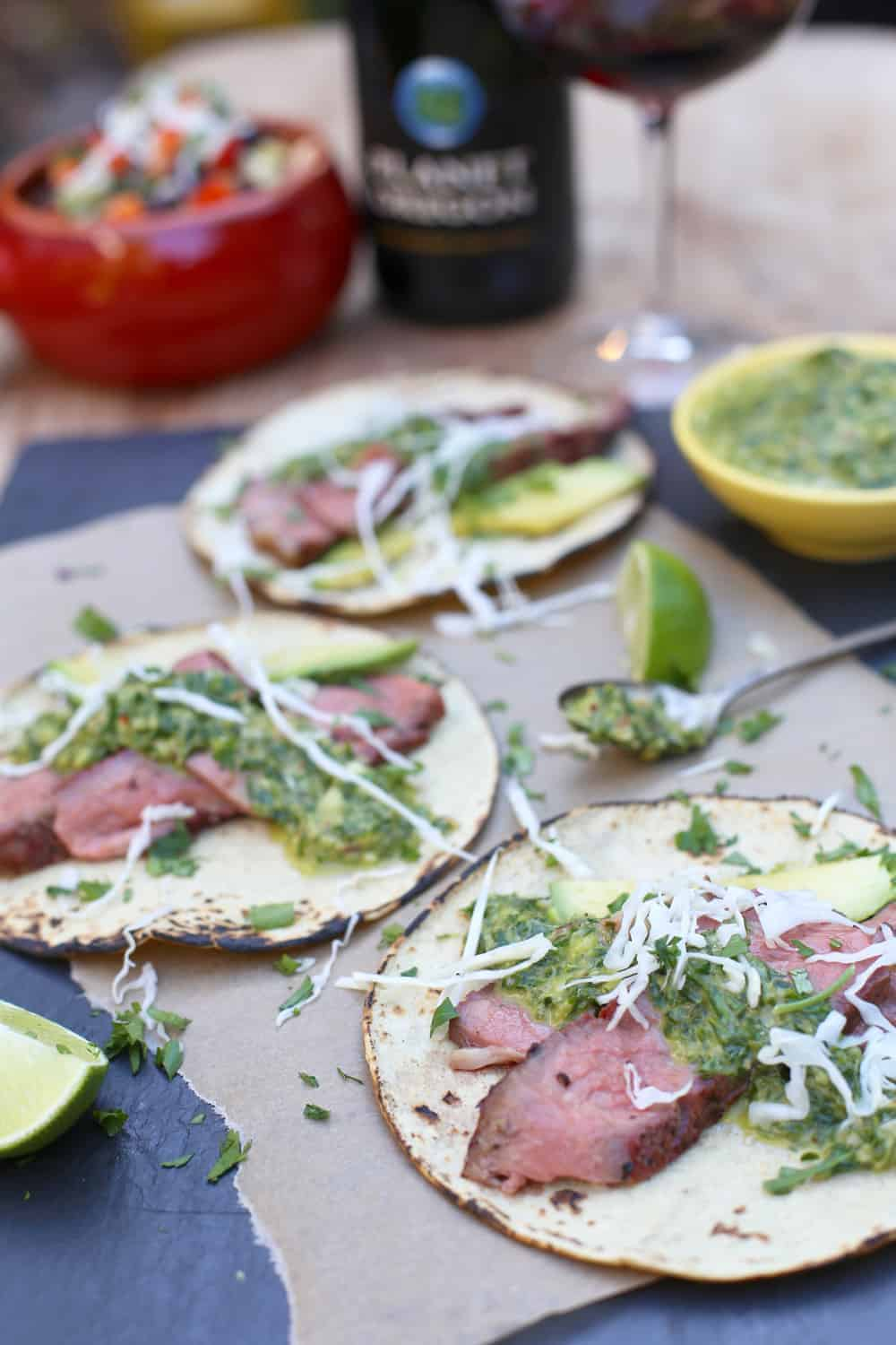 Ribeye Steak Tacos and Wine Pairing