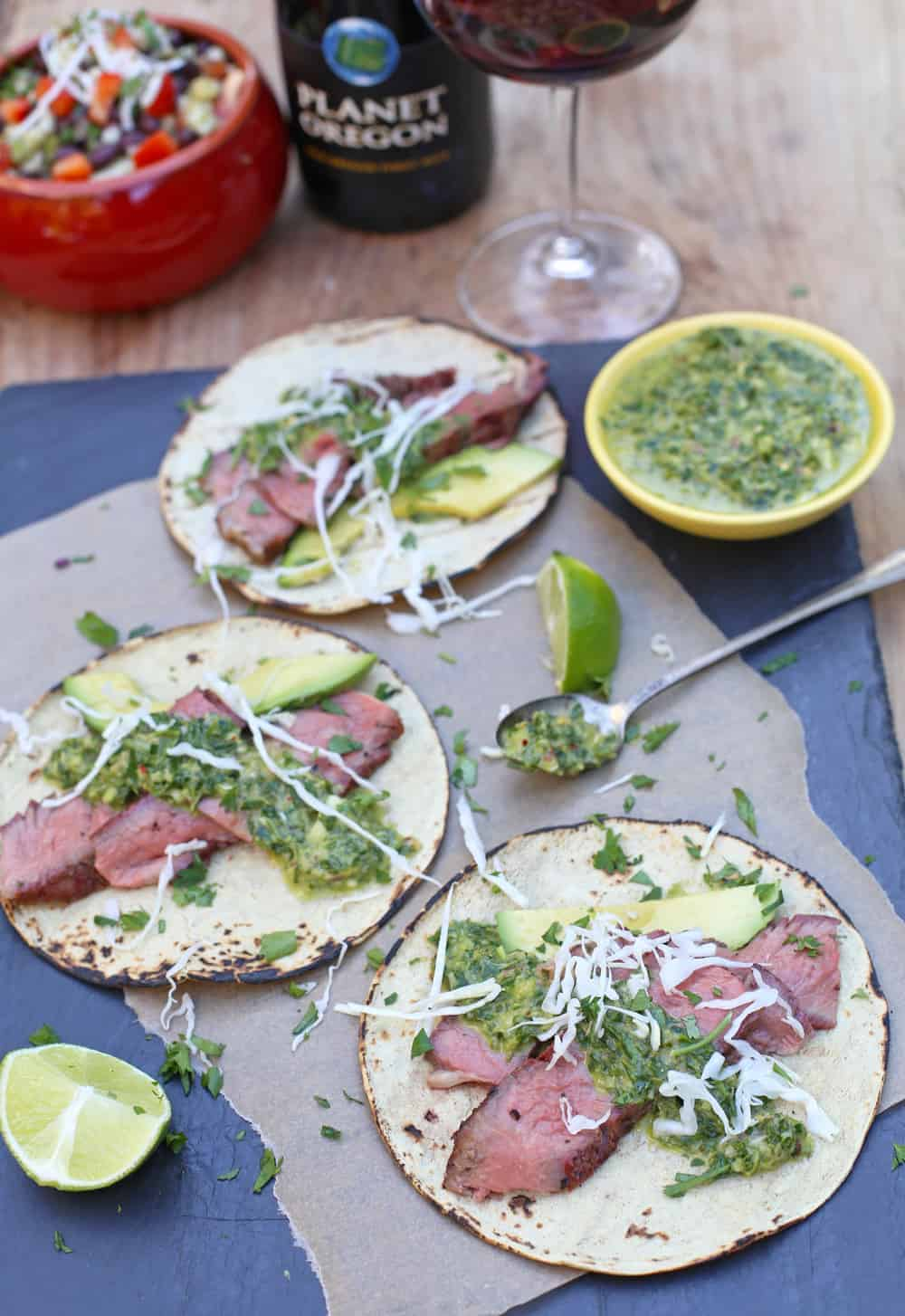 Steak Tacos and Wine Pairing