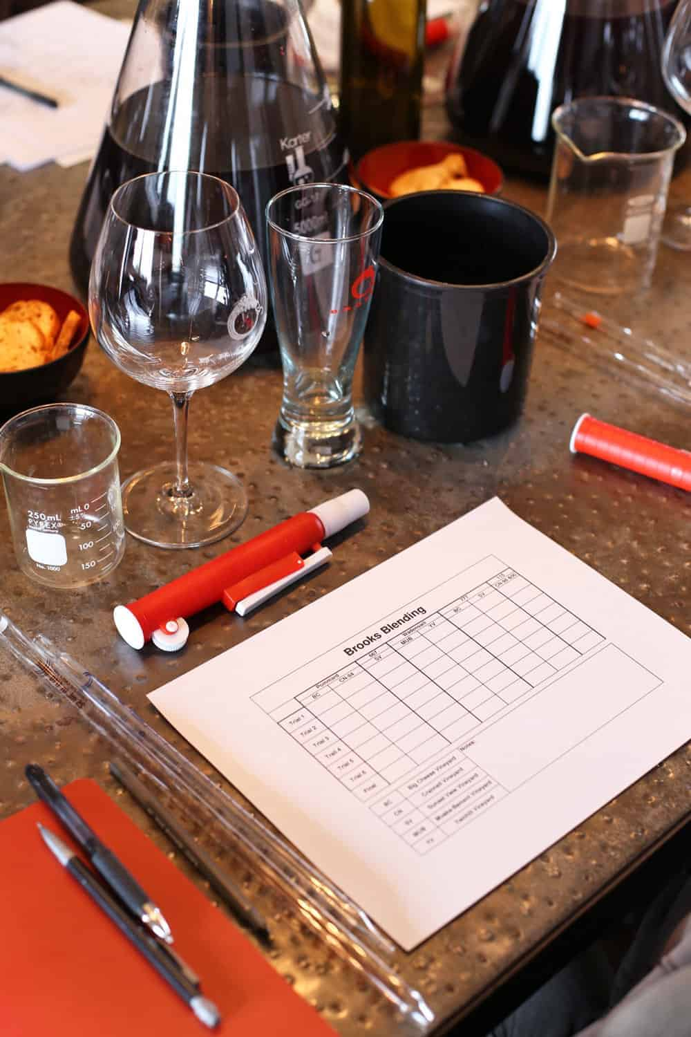 Brooks Winery Blending Experience 3