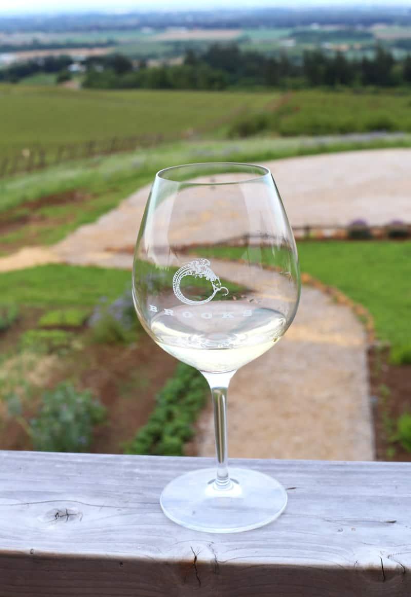 Brooks Winery Glass