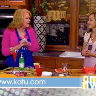Watermelon Salad with Basil and White Balsamic – Live on AM Northwest!