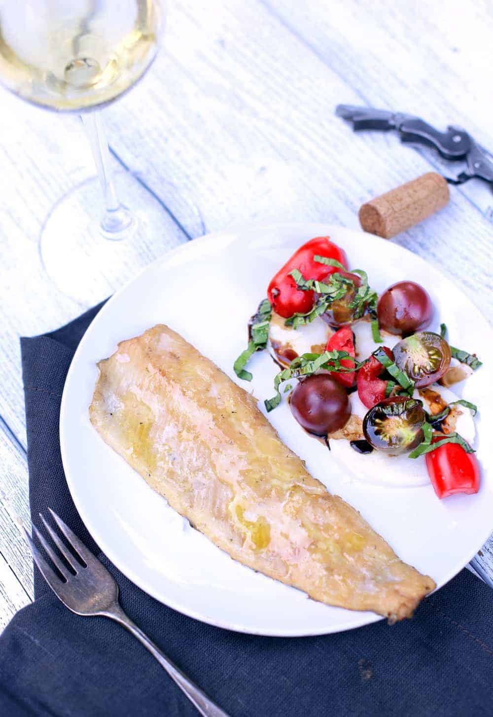 Easy Smoked Trout and Wine Pairing. A simple, light, healthy, dinner idea for your smoker or grill