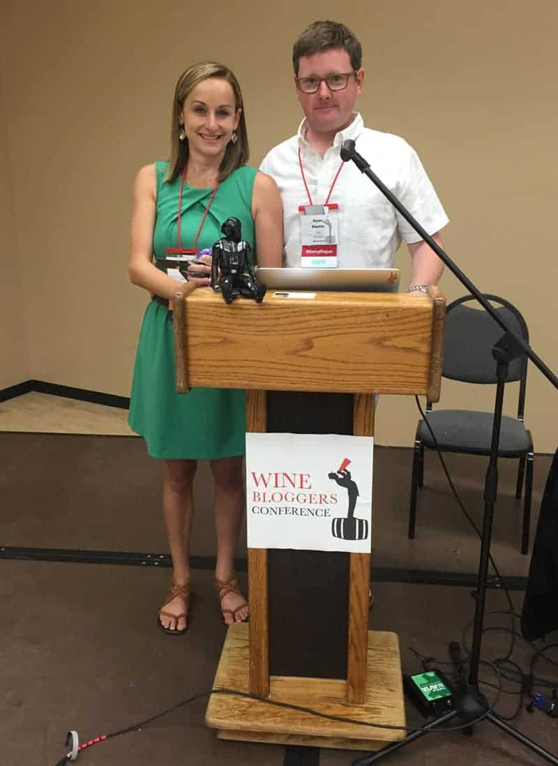 Mary Cressler and Sean Martin, speaking at the Wine Bloggers Conference