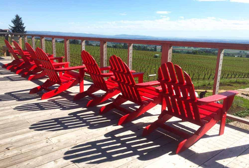 The Deck at Brooks Vineyard
