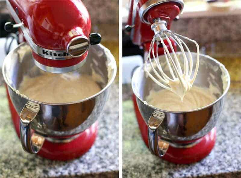 How to Make Smoked Honey Butter by whipping smoked honey with butter in a stand mixer