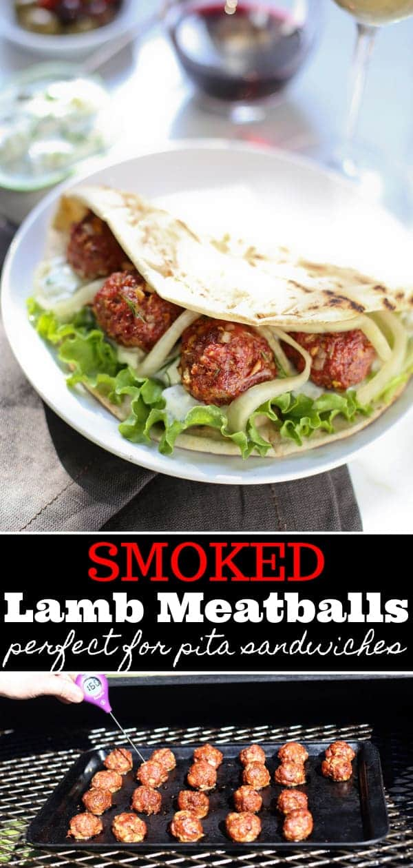 Smoked Lamb Meatballs Pinterest Image
