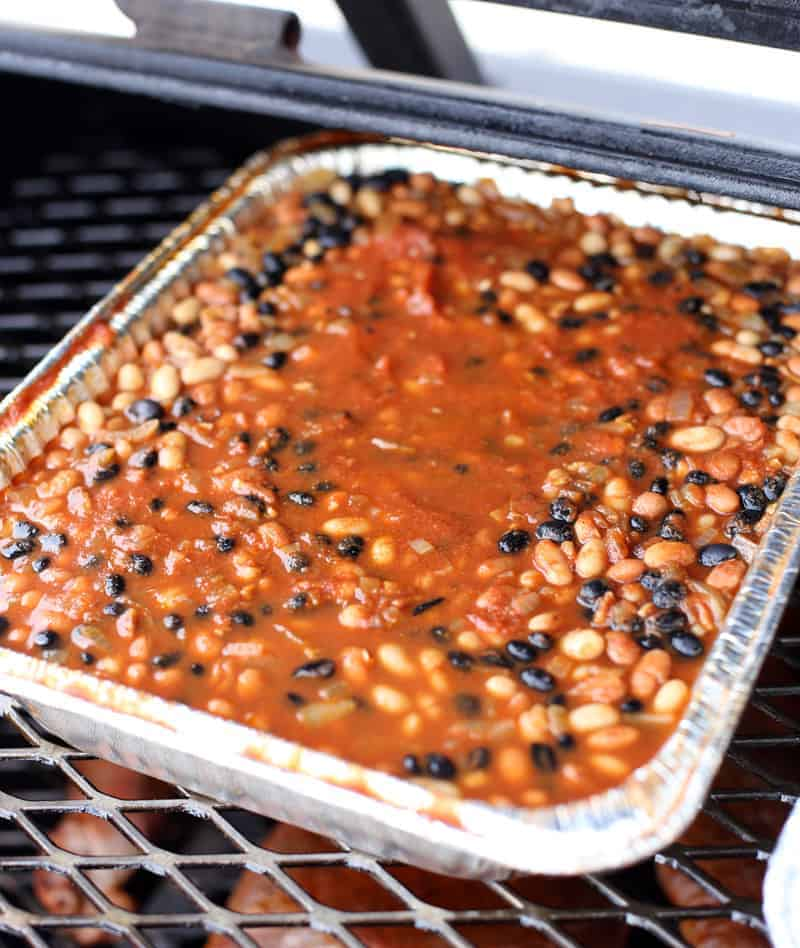 Cooking Baked Beans on the Smoker for a Crowd