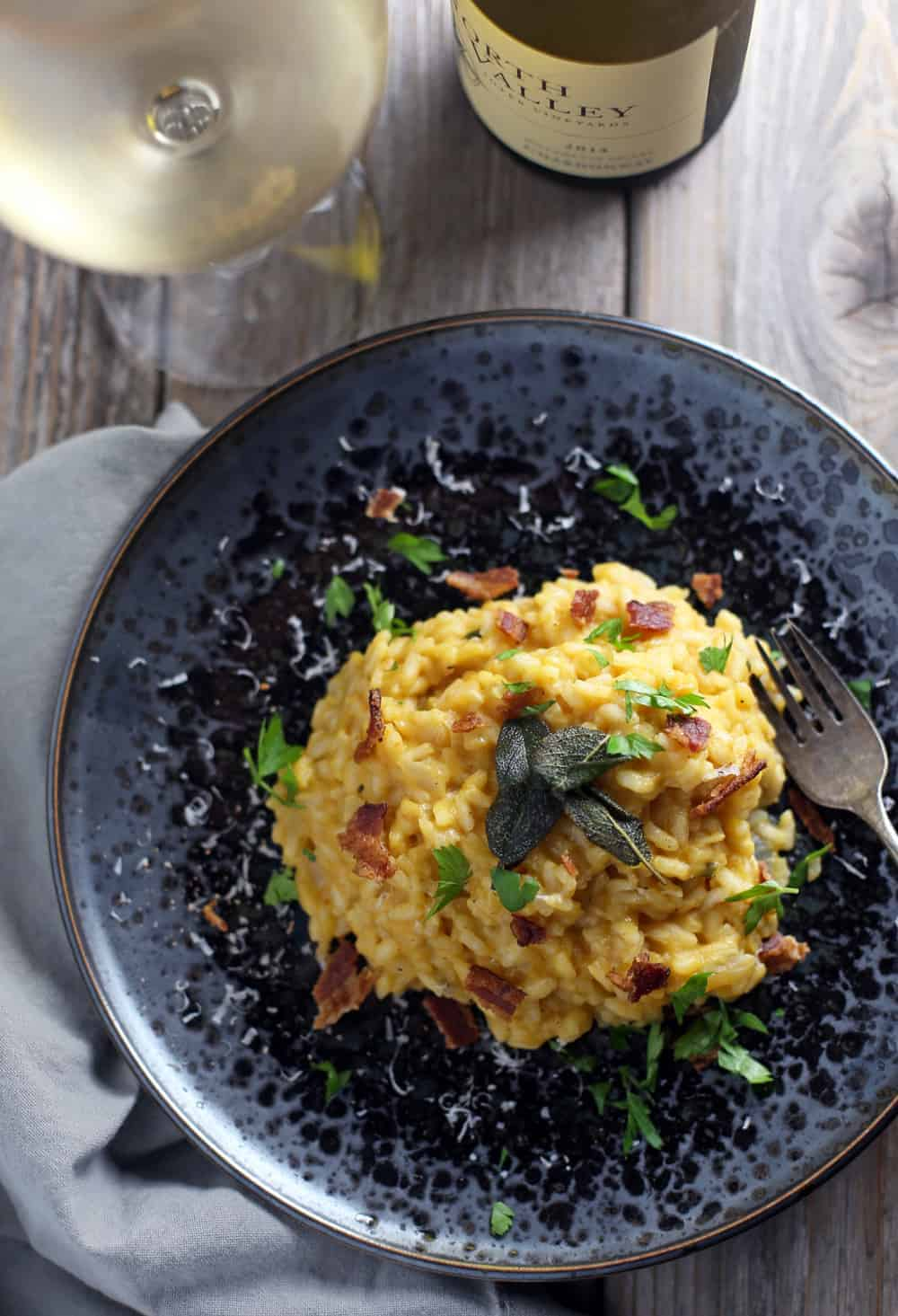 Pumpkin Risotto and Wine Pairing