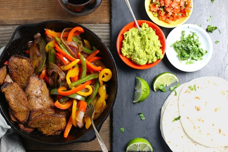 Smoked Tri-Tip Steak Fajitas