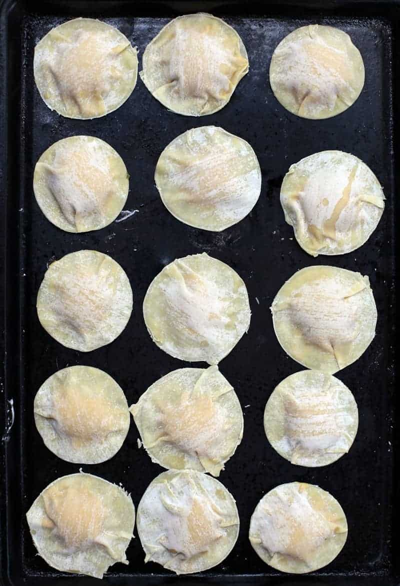 Making Pumpkin Ravioli with Wonton Wrappers