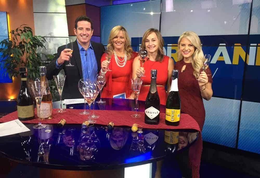 Mary Cressler Oregon Sparkling Wine segment on KGW Portland Today