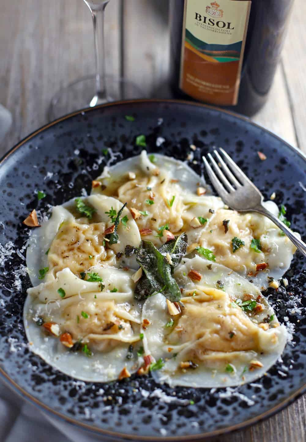 Smoked Pumpkin Ravioli and Wine Pairing