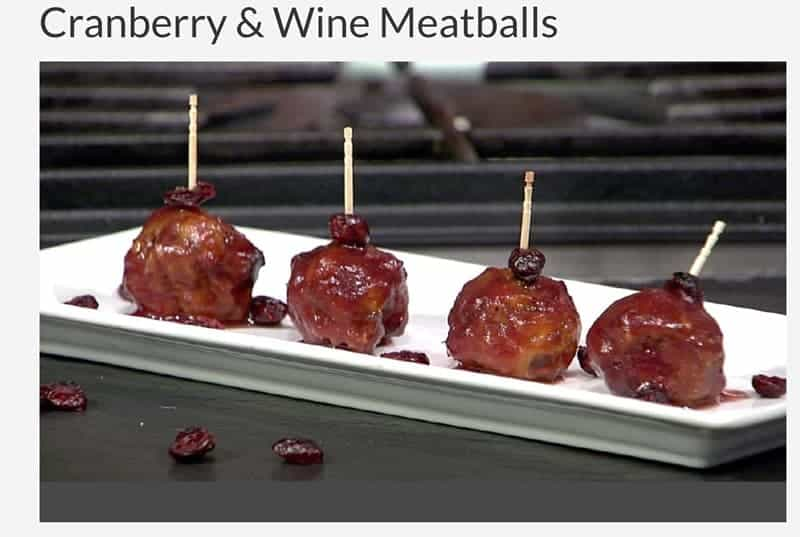 Click to watch the video of Smoked Meatballs with Cranberry and Wine Sauce on AMNW