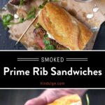 Prime Rib Sandwich Pinterest Pin
