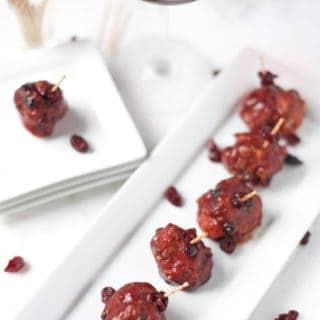 Smoked Meatballs in a Cranberry Pinot Noir Sauce (recipe and video)