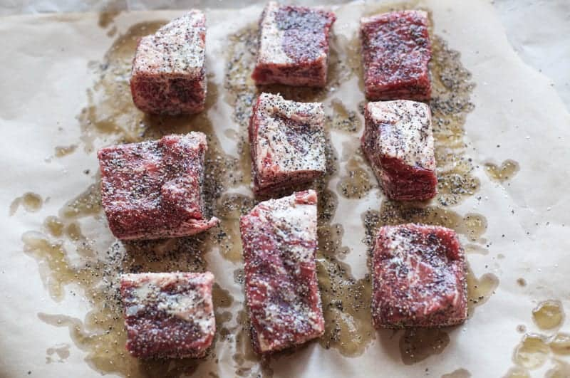 How to prep short ribs to smoke on the smoker.