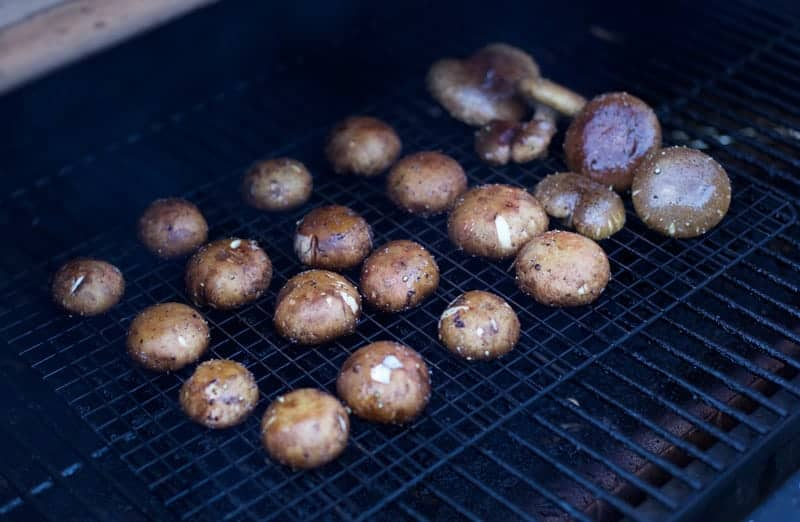 Smoking Mushrooms on a Smoker