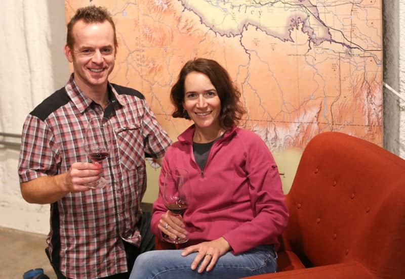 Melanie Krause and Joe Schnerr of Cindery Winery, Idaho