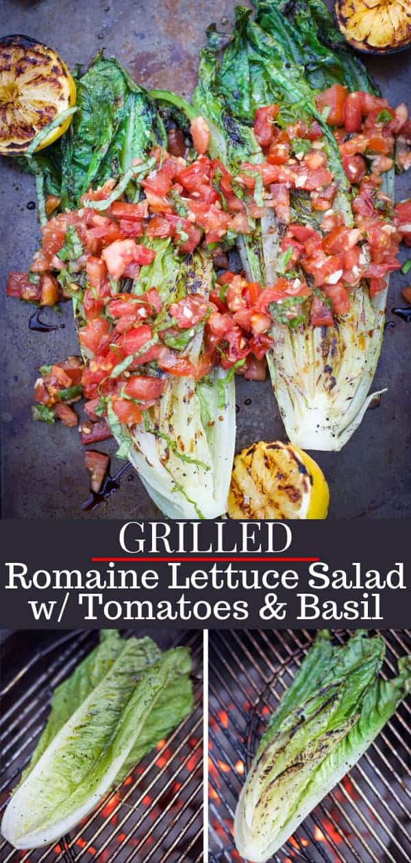 Grilled Romaine Lettuce Salad Pin Image