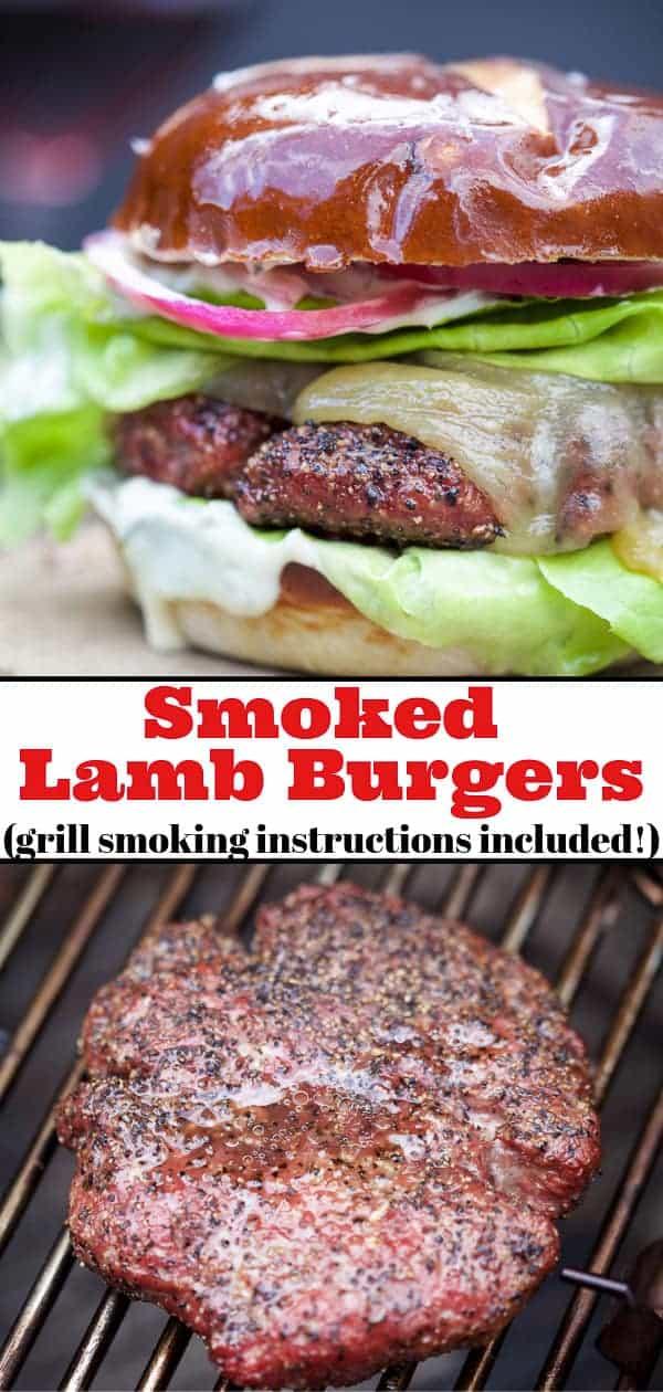 Smoked Lamb Burgers Pinterest Image