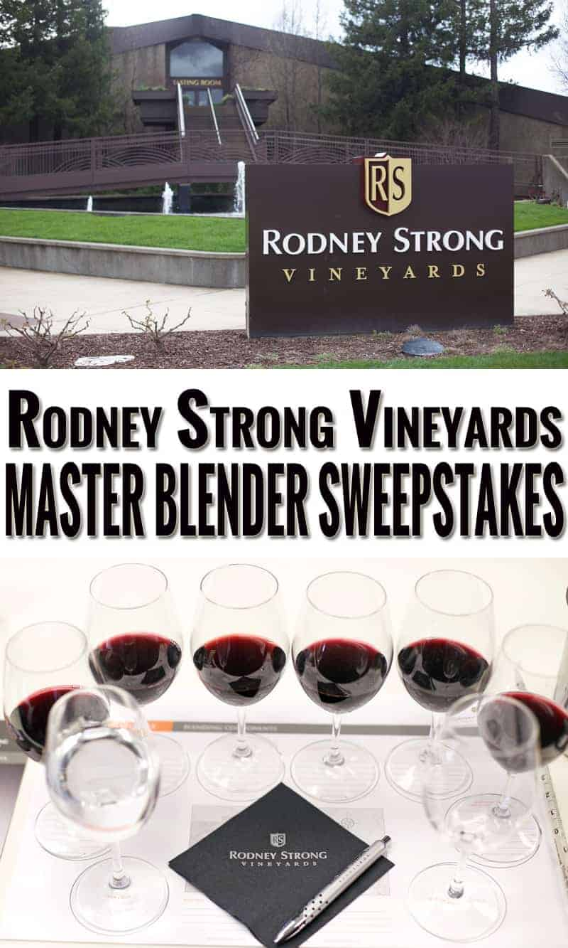 Rodney Strong Vineyards Master Blender Sweepstakes. Enter to win a wine country weekend for two!!!