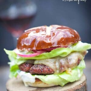 Smoked Lamb Burgers with Rosemary Aioli