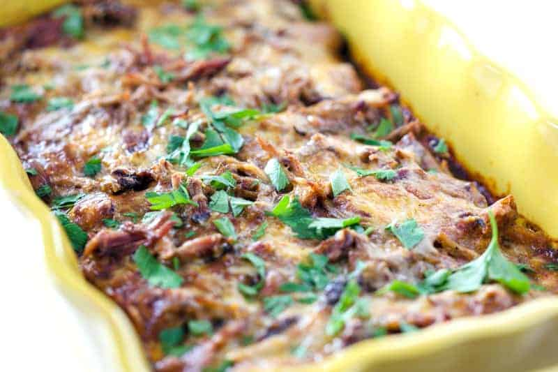 Smoked Pulled Pork Enchiladas
