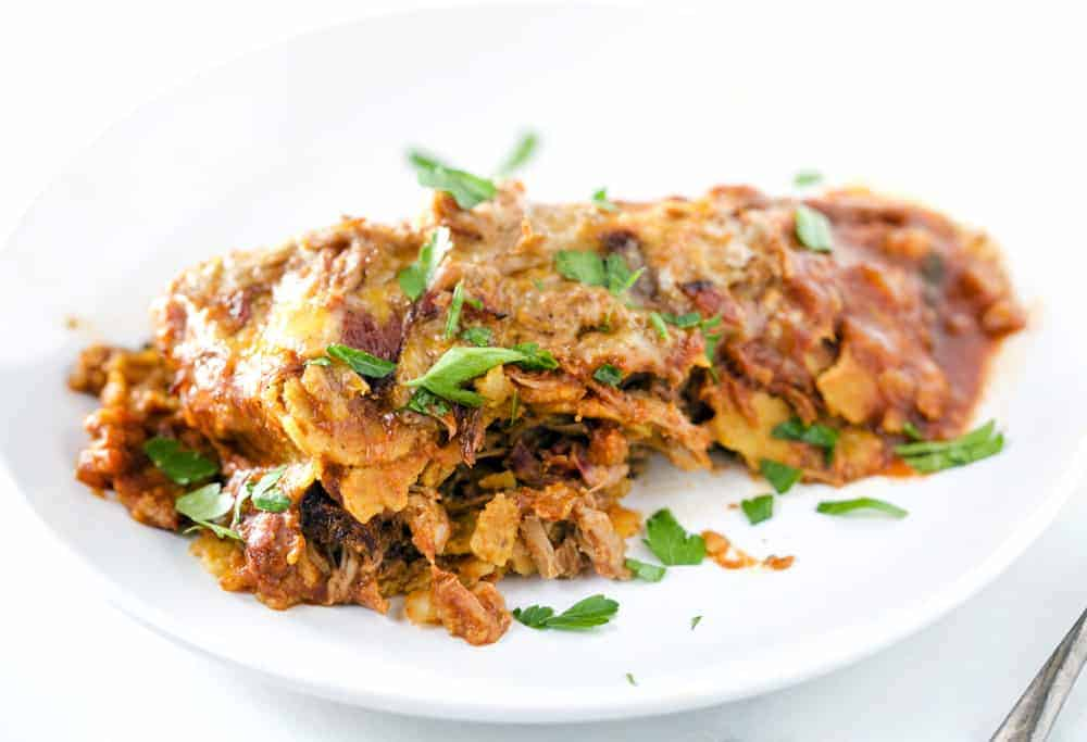 Smoked Pulled Pork Enchiladas plated 2